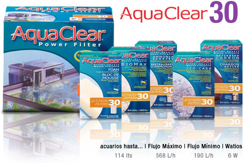 AquaClear 30 - filtro de mochila para acuarios