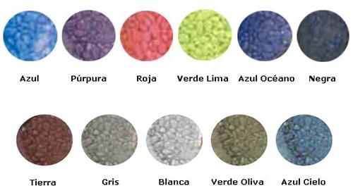 grava decorativa de colores marina exofauna
