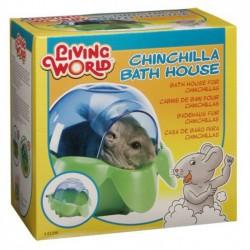 Bañera para Chinchillas Living World Bath House