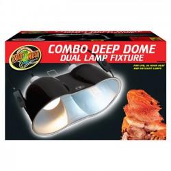 Zoo Med Combo Deep Dome Dual Lamp Fixture - portalámparas para terrarios