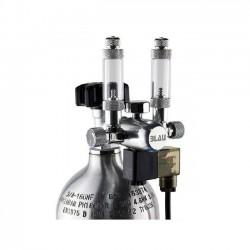 BLAU Manoreductor Compacto Doble con Contador de Burbujas y Válvula Solenoide