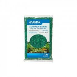 Grava Decorativa Verde Tom para Acuarios de 2 kg